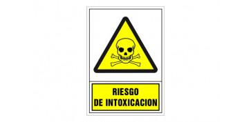 SEÑAL ADVERTENCIA CASTELLANO 345X245 MM-RIESGO DE INTOXICACION