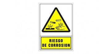 SEÑAL ADVERTENCIA CASTELLANO 490X345 MM-RIESGO DE CORROSION