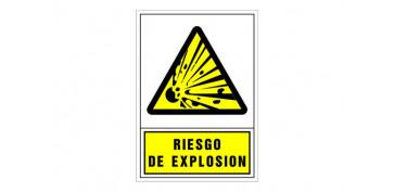 SEÑAL ADVERTENCIA CASTELLANO 490X345 MM-RIESGO DE EXPLOSION