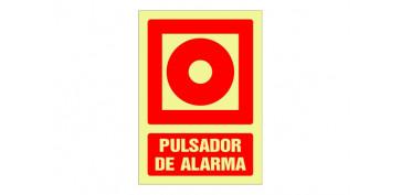 SEÑAL FOTOLUMINISCENTE CONTRA INCENDIO CASTELLANO 297X210 MM-PULSADOR ALARMA