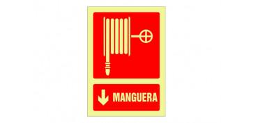 Señalizacion - SEÑAL FOTOLUMINISCENTE CONTRA INCENDIO CASTELLANO 420X297 MM-MANGUERA
