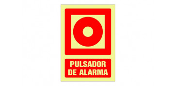 Señalizacion - SEÑAL FOTOLUMINISCENTE CONTRA INCENDIO CASTELLANO 420X297 MM-PULSADOR ALARMA