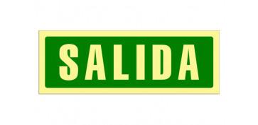 Señalizacion - SEÑAL FOTOLUMINISCENTE EVACUACION CASTELLANO 297X105 MM-SALIDA