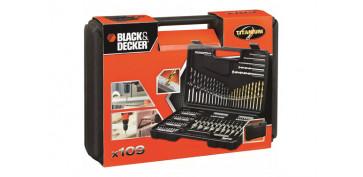 Juegos y kits para herramientas - BROCAS + PUNTAS ATORNILLAR 109 PIEZAS