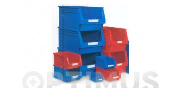 GAVETA APILABLE PLASTICO N.55 ROJA 336 X 216 X 200 MM. 10,1 LITROS