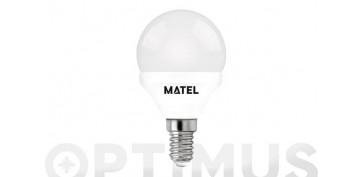 LAMPARA ESFERICA LED AL+PC E14 5W LUZ BLANCA