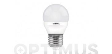 LAMPARA ESFERICA LED AL+PC E27 5W LUZ BLANCA