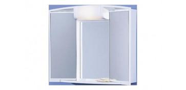 Mobiliario de baño - CAMERINO 2 PUERTAS ENCHUFE LUZ Y CAJON 55X50X15