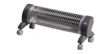 Calefacción electrica - ESTUFA CUARZO PIE 2 BARRAS NEGRA 1200W C/RUEDAS
