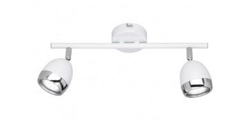 Iluminacion vivienda - REGLETA 2 FOCOS LED GU10 3W NANTES BLANCO