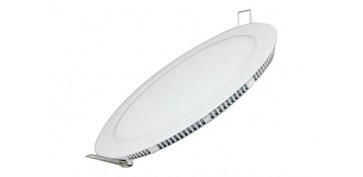 DOWNLIGHT PLANO REDONDO LED 18 W BLANCO 1600LM LUZ BLANCA (4000K)