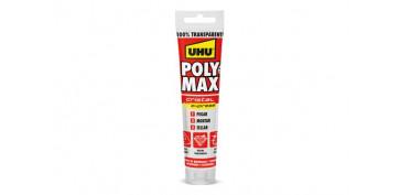 Adhesivos - ADHESIVO MONTAJE Y SELLADOR POLY MAX 115GR CRISTAL EXPRESS