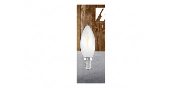 LAMPARA FILAMENTO LED VELA OPAL E14 3W LUZ BLANCA (5000K)