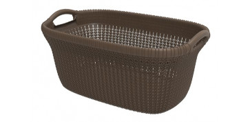 CESTA ROPA KNIT BASKET 40 L MARRON