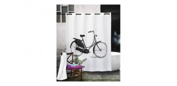 Alfombras y cortinas - CORTINA DUCHA POLIEST.180X200 BICYCLE