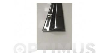 Burletes y tapajuntas - CUBREJUNTA CERAMICA PARKET INOX TORNILLO 93 CM-45X10 MM