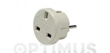 Material instalacion electrico - ADAPTADOR EUROPEO INGLES 10A 250V