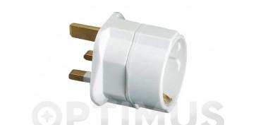 Material instalacion electrico - ADAPTADOR INGLES EUROPEO 10A 250V