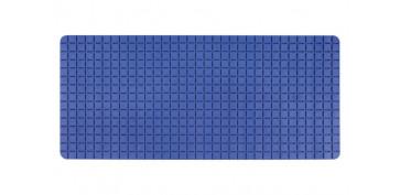Alfombras y cortinas - ANTIDESLIZANTE BAÑERA QUADRO 36X76 AZUL