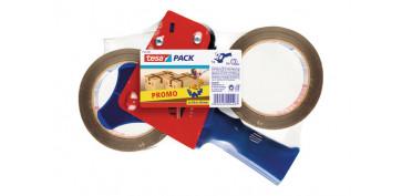 Adhesivos - CINTA EMBALAR POLIPROPILENO PACK 2 ROLLOS+PRECINTA 66X50 MARRON