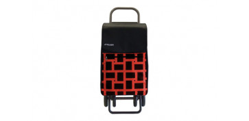 Reutilizable Eco-Friendly - CARRO COMPRA 4 RUEDAS 4.2 BOX GEOMETRIK ROJO