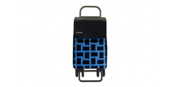 Reutilizable Eco-Friendly - CARRO COMPRA 4 RUEDAS 4.2 BOX GEOMETRIK AZUL
