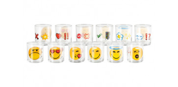 VASO VIDRIO SMILEY EMOTICON AGUA-25 CL