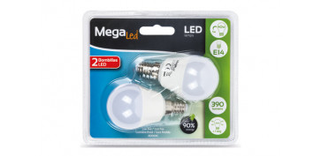 LAMPARA LED MINI ESFERICA (2UNI) 5W E-14 LUZ BLANCA (4000K)