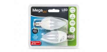 LAMPARA LED VELA (2UNI) 5W E-14 LUZ BLANCA (4000K)