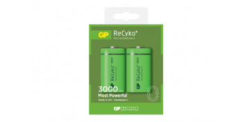 Pilas y baterías - PILA RECARGABLE RECYKO (BL.2) C LR-14 3000MAH