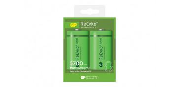 Pilas y baterías - PILA RECARGABLE RECYKO (BL.2) D LR20 5700MAH