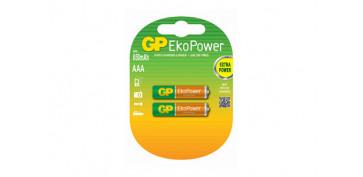 Pilas y baterías - PILA RECARGABLE EKOPOWER (BL.2) AAA 650MAH