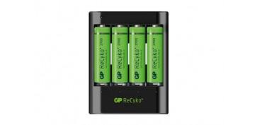 Pilas y baterías - CARGADOR USB 4 PILAS AA-AAA INCL. 4XAA 2700MAH