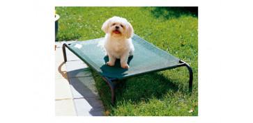 Productos para mascotas - CAMA MASCOTA \'S\' VERDE 90X55X20CM HASTA 15KG