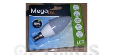 LAMPARA VELA LED E14 7W LUZ BLANCA