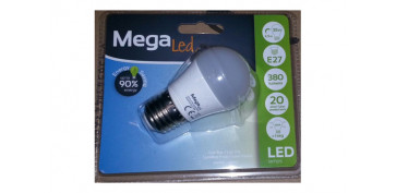 LAMPARA ESFERICA LED E27 5W LUZ BLANCA