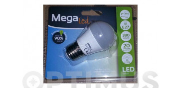 LAMPARA ESFERICA LED E27 7W LUZ BLANCA