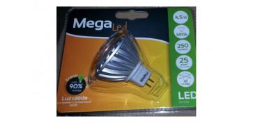 LAMPARA DICROICA SMD LED GU5,3 4,5W LUZ CALIDA