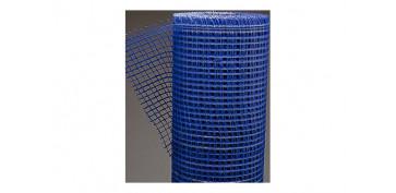 Toldos y plasticos protectores - MALLA REVOCOS FIBRA VIDRIO 10X10/100 CM AZUL