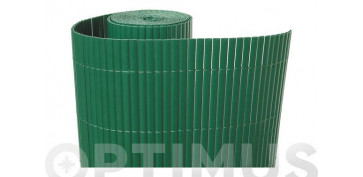 CAÑIZO SINTETICO PVC CAÑA DOBLE CARA 30MM 1,5 X 3MT VERDE