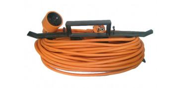 Cables - PROLONGADOR ELECTRICO JARDIN 15 M. / 3 X 1,5 IP20 C/ PROTECCION INFANTIL (INCLUYE ORGANIZADOR)