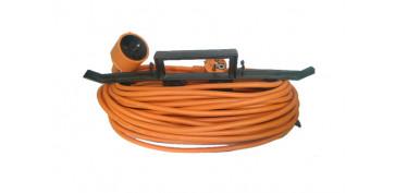 Cables - PROLONGADOR ELECTRICO JARDIN 25 M. / 3 X 1,5 IP20 C/ PROTECCION INFANTIL (INCLUYE ORGANIZADOR)