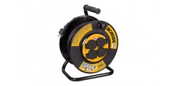 Cables - ENROLLACABLE 3 X 2,5 / 35 M. 4 TOMAS CON TAPA IP44 CON PROTECCION TERMICA E INFANTIL