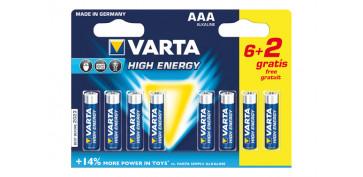 Pilas y baterías - PILA ALCALINA HIGH ENERGY 6+2 AAA