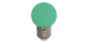 LAMPARA MINI ESFERICA DECO 0,9W E27 VERDE