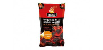 Barbacoas - BRIQUETA CARBON AUTOENCENDIDO 1,5 KG