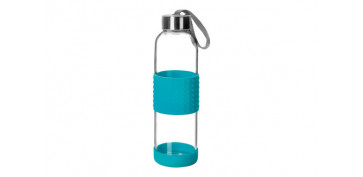 Reutilizable Eco-Friendly - BOTELLA VIDRIO+SILICONA 0,5L-AZUL