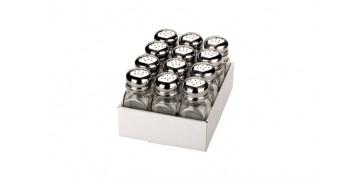 Ordenacion y conservacion de cocina - SALERO INOX CRISTAL 10X4 CM 0,075L
