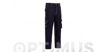 PANTALON STRETCH TRIPLE COSTURA T-54 AZUL