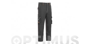 PANTALON STRETCH TRIPLE COSTURA T-54 GRIS